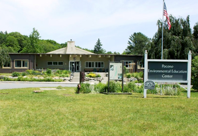 Entrance to PEEC: Pocono Environmental Education Center
